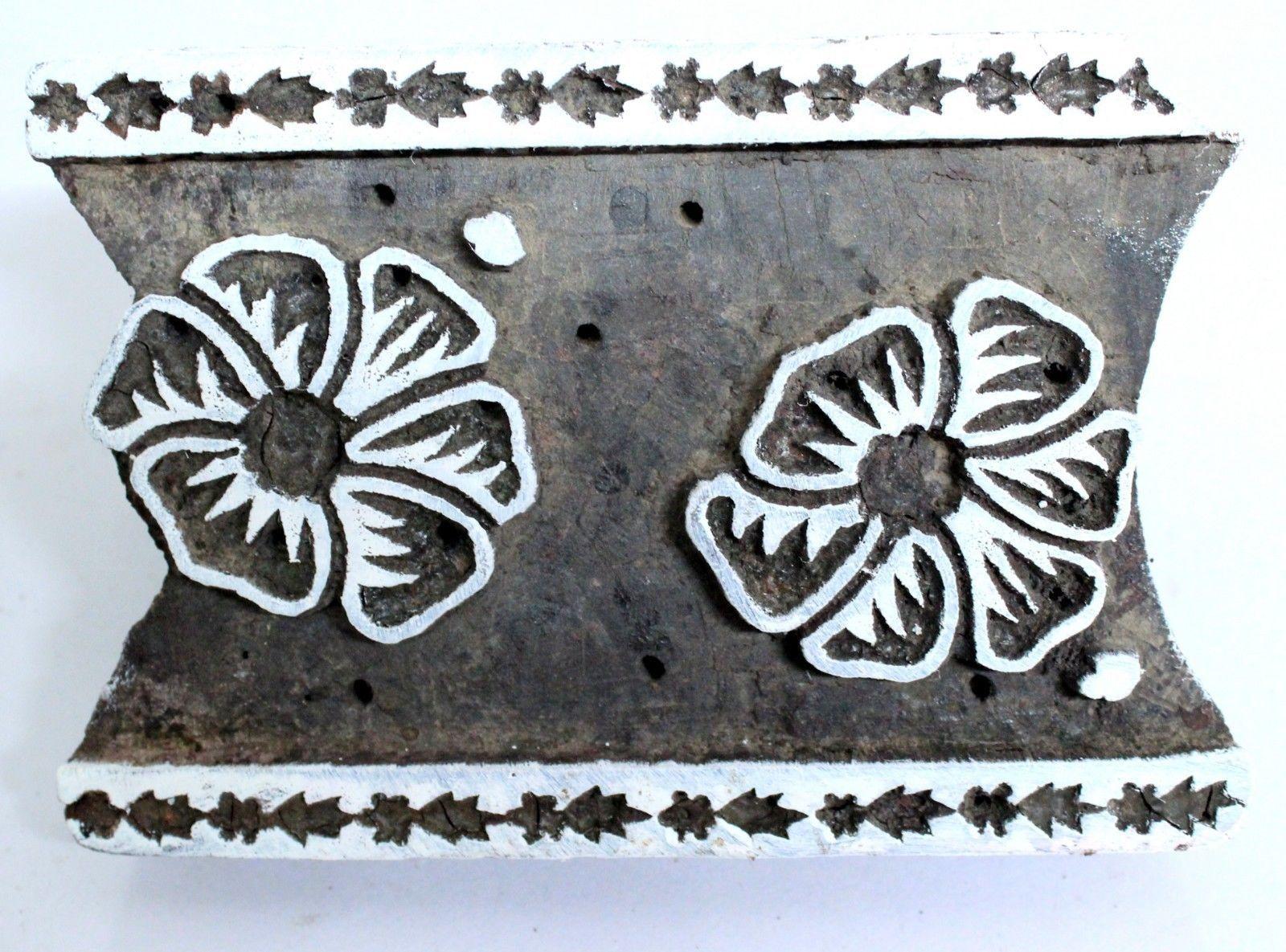 Wooden Printing Block Texitle Printing Design Block Vintage Stamp Block