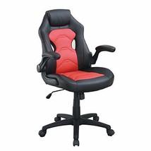 Poundex bridgecraft Office Chair, Black/Red - $159.40