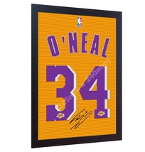 Shaquille O'Neal Los Angeles Lakers signed autograph CANVAS 100% cotton ... - $20.57
