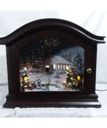 Mantel Music Box Mr. Christmas Animated Ice Skaters Lighted Trees Lamp P... - $448.76
