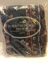 Avon Tote Country French Fashion 1988 Polyester Cotton Blue Pink Flowers... - $16.82