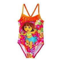 Dora The Explorer & Stiefel UPF-50 1-Piece Schwimmen Badeanzug Nwt Größe... - $10.05