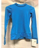 Mondor Model 4304 Girls Skating Long Sleeve Top E5 Azure Size Child 12.14 - $51.99