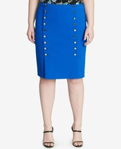 Calvin Klein women's Plus Size Embellished Pencil Skirt royal blue - $20.00