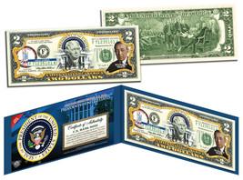 WOODROW WILSON * 28th U.S. President * Colorized $2 Bill Genuine Legal T... - $13.81