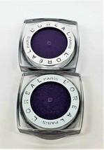 2 Pack L'Oreal Paris Infallible Eye Shadow 24 Hr Waterproof Purple Prior... - $8.59
