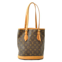 LOUIS VUITTON Monogram Bucket PM Shoulder Bag M42238 LV Auth sa2002 - $190.00