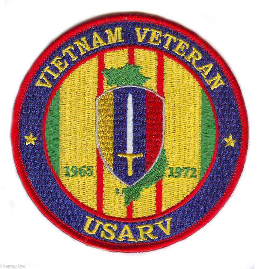 "ARMY USARV  VIETNAM VETERAN  4"" EMBROIDERED MILITARY PATCH"