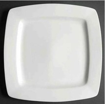 """One Square Dinner Plate White Elements Square GIBSON DESIGNS Width 10 1/4"""" - $10.39"""