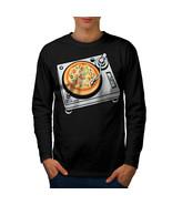 Pizza Dj Mix Music Food Tee  Men Long Sleeve T-shirt - $14.99