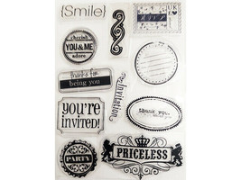 Sentiments and Icons Clear Stamp Set