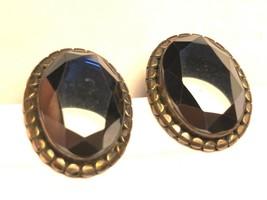 Janice Girardi JGD Sterling Silver 925 Black Hematite oval stud Earrings - $38.61