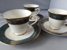 Carlyle Royal Doulton Tea Cup & Saucer English Bone China Set of 3 Home ... - $43.51