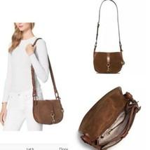Women's Michael Kors Brown Suede Cross Body Shoulder Bag - $95.67