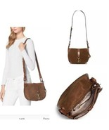 Women's Michael Kors Brown Suede Cross Body Shoulder Bag - $95.67