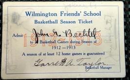 1912 WILMINGTON FRIENDS' SCHOOL BASKETBALL TICKET de - $42.50