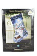 Dimensions Gold Collection Sleigh Ride at Dusk Stocking Counted Cross St... - $50.48