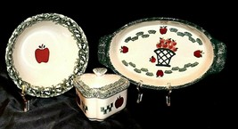 Heart shaped Stoneware container with Lid, Soup Bowl and Serving bowl AA20-2249