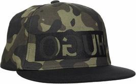 Hugo Boss Army Camouflage Adjustable Sport Baseball Flatbrim Snapback Hat Cap image 5