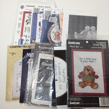 Lot of Charts from Cross Stitch Kits Some Leftover Floss - $9.74