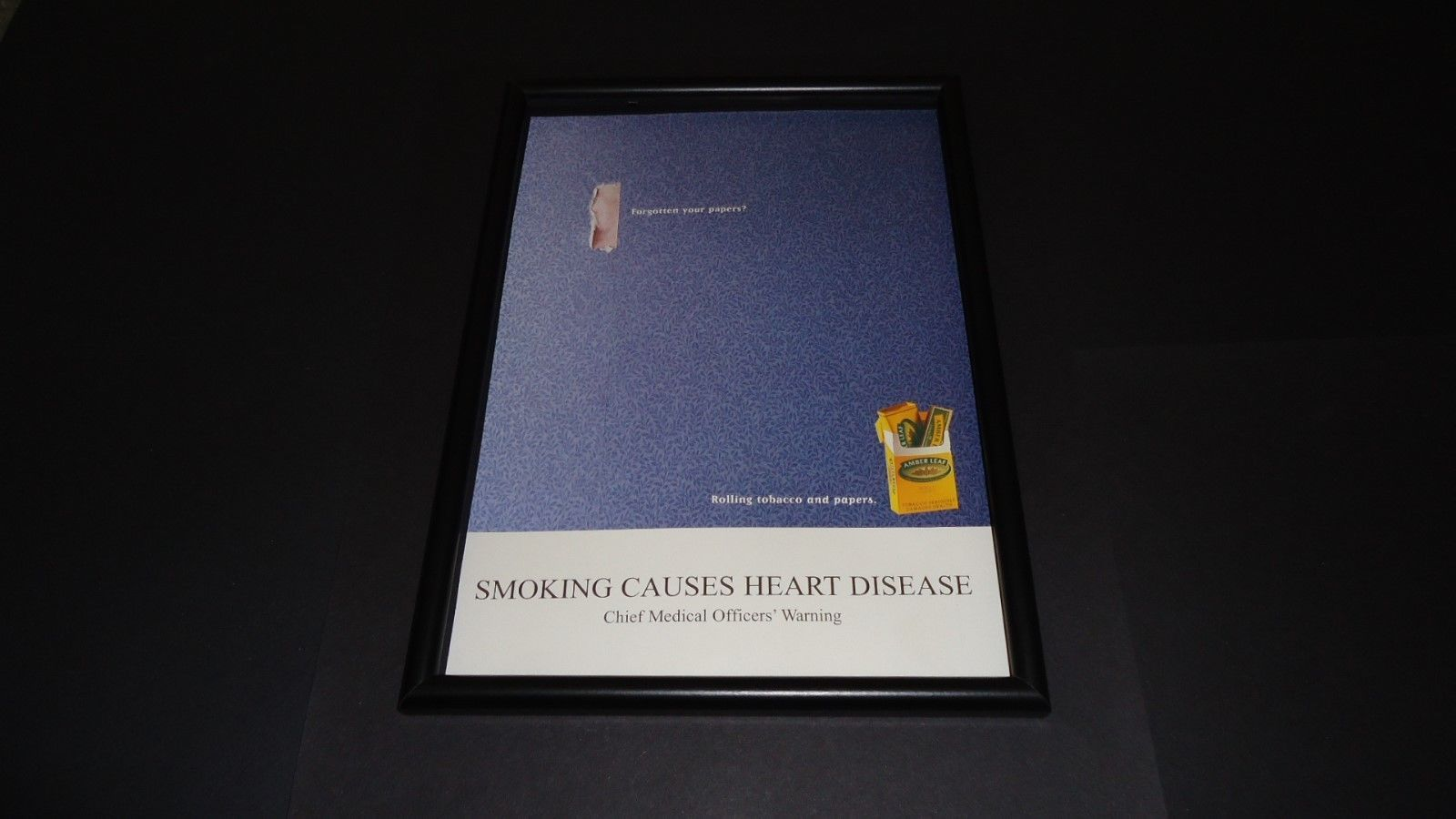 Primary image for Amber Leaf Tobacco-2002 Original advert framed