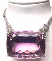 New Huge Custom designer Flawless 284ct Kunzite diamond Platinum necklac... - $249,999.99