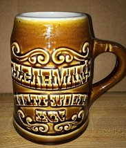 Clearmans North Woods Inn Restaurant Light Brown Glaze Mug Cup Hall Souv... - $14.85