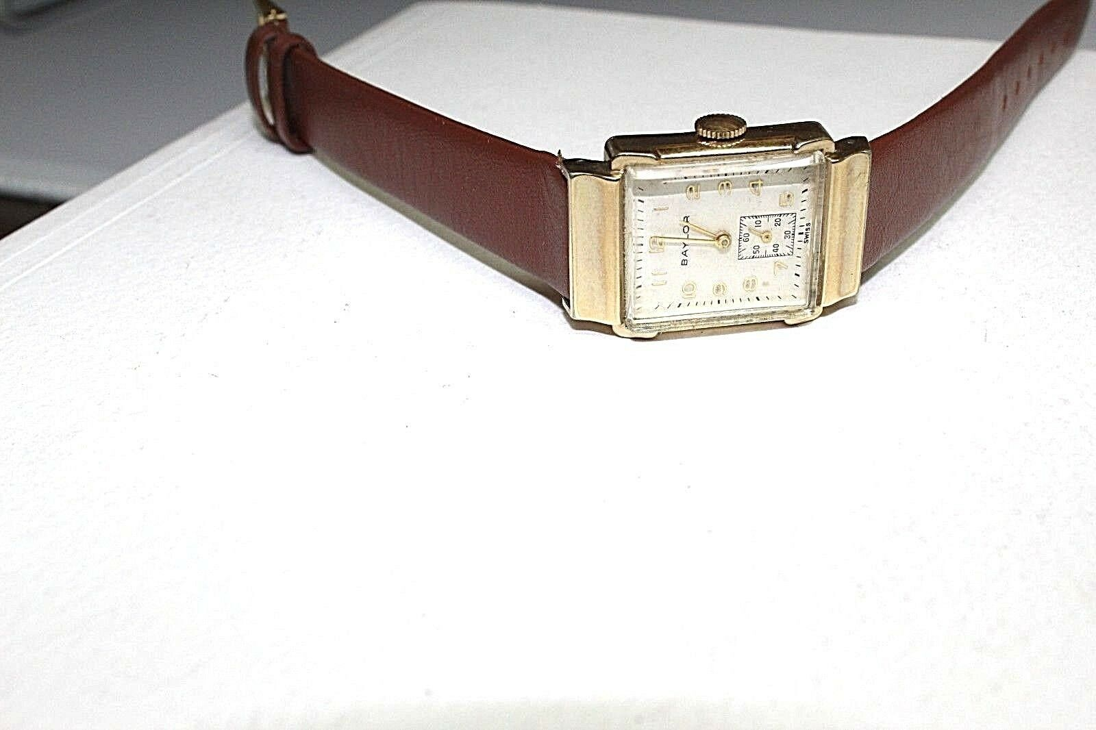 Baylor Swiss made vintage mechanical watch 17 jewels 10k gold filled