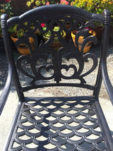 """11pc outdoor patio dining set Nassau chairs cast aluminum 46"""" x 120"""" table image 4"""