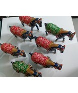 7 pc horses with pony gift decoration made of resin hand painted - $84.15