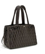 NEW Victoria's Secret Glam Rock Quilted Travel Tote Black Studded Black - $75.32