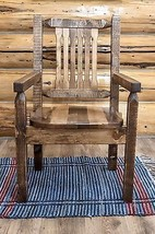 Farmhouse Style Captains Chair Amish Made Furniture Dining Chairs Solid ... - €415,12 EUR