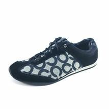 Coach Womens Size 7.5 Kelbie Sneakers Black A1343 Low Top Signature Shoes - $31.75