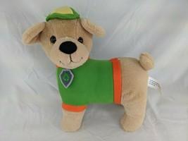 "Dog Plush 11"" Tan Green Midwood Brands Stuffed Animal Toy - $10.95"