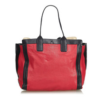 Pre-Loved Chloe Red Others Leather Alison Tote Bag France - $526.06