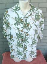 Joe Marlin Hawaiian Floral Tropical Vacation Beach Summer Shirt Size Large - $13.96