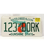 "Authentic Florida ""SUNSHINE STATE"" License Plate/ Tag- 123 DORK - EXCELL... - $25.00"