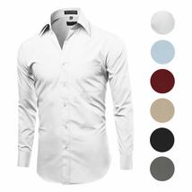 Men's Classic Fit Long Sleeve Wrinkle Resistant Button Down Premium Dress Shirt image 1