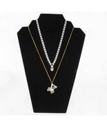 Three Black Velvet Necklace Pendant Easel Display Stands Stand Displays - $22.50