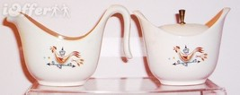 TAYLOR SMITH TAYLOR--WEATHER VANE CREAMER & SUGAR BOWL - $19.95