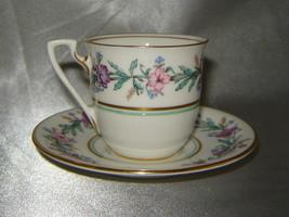 ROYAL WORCESTER Bone China ELYSIAN Floral Demitasse Cup & Saucer Set (En... - $29.30
