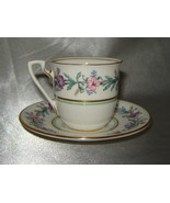 ROYAL WORCESTER Bone China ELYSIAN Floral Demitasse Cup & Saucer Set (En... - $29.30