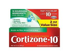 Cortizone-10 Plus Maximum Strength Hydrocortisone Anti-Itch Creme Plus Moisturiz