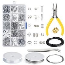 KUUQA Jewelry Making Kit Jewelry Findings Starter Kit Jewelry Beading Ma... - $10.74