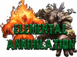 MTG Red Green Horde Magic Elemental Annihilation Deck Box & Sleeves - $52.95