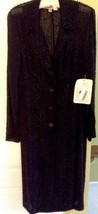 Authentic Vera Wang Black honeycomb lace long sleeve coat Retail Price - $483.55
