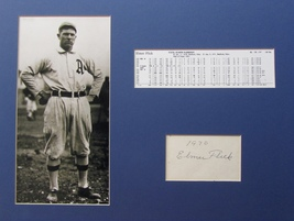 ELMER FLICK RARE HAND SIGNED AUTOGRAPHED Card with PHOTO MATTED w/COA PH... - $89.99