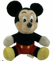 "Vintage Mickey Mouse 8"" Plush Disneyland Walt Disney World Parks Seated ... - $16.82"