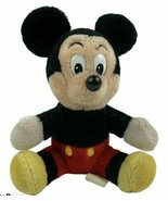 "Vintage Mickey Mouse 8"" Plush Disneyland Walt Disney World Parks Seated ... - $16.82"