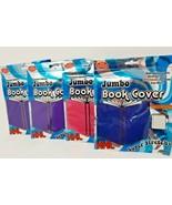 Set of Four 10 x 15 Book Covers JUMBO XXL Purple Pink Dark Blue Assorted... - $5.93